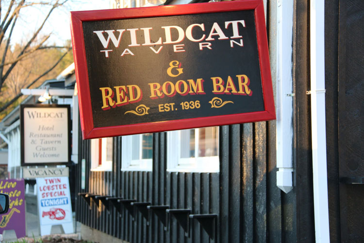 Wildcat Tavern - Jackson, NH - frontporch sign