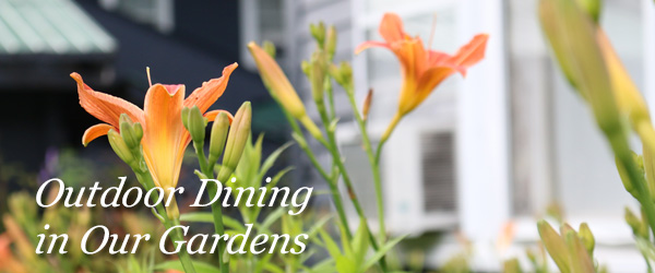 Outdoor Dining in the Gardens